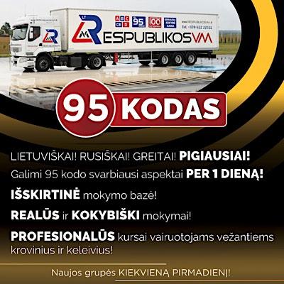 95 kodas Periodinis Klaipeda Vilnius Kaunas Lietuva